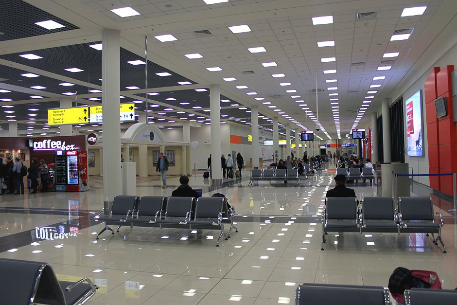 Зал ожидания вылета в аэропорту