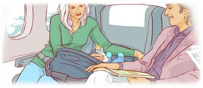 Младенец может путешествовать только вместе со взрослыми