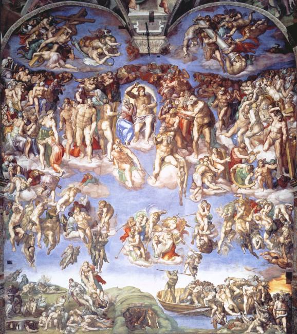Старинная мозаика «Страшный Суд»