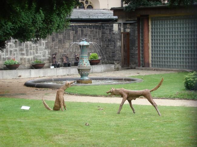 Статуи в Вышеградском саду