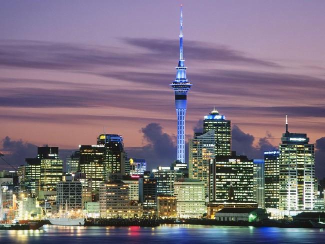 Окленд - самый большой город Новой Зеландии