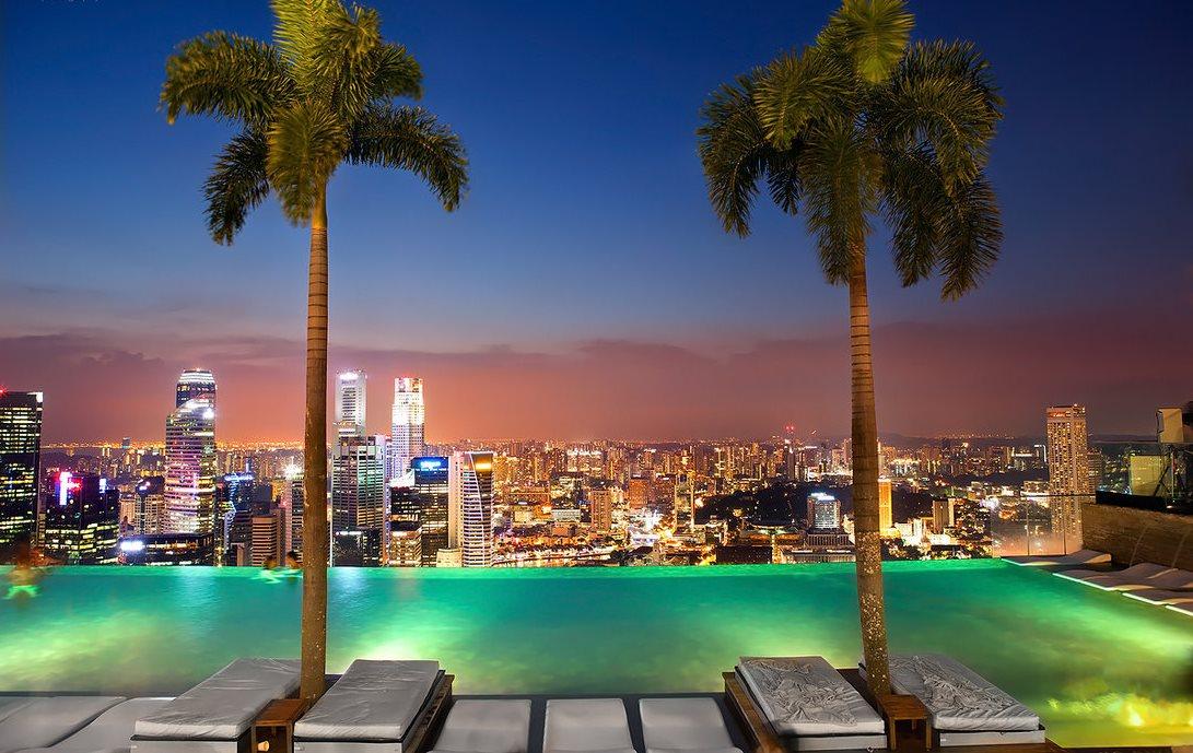 фотографии с видом отеля в сингапуре тому