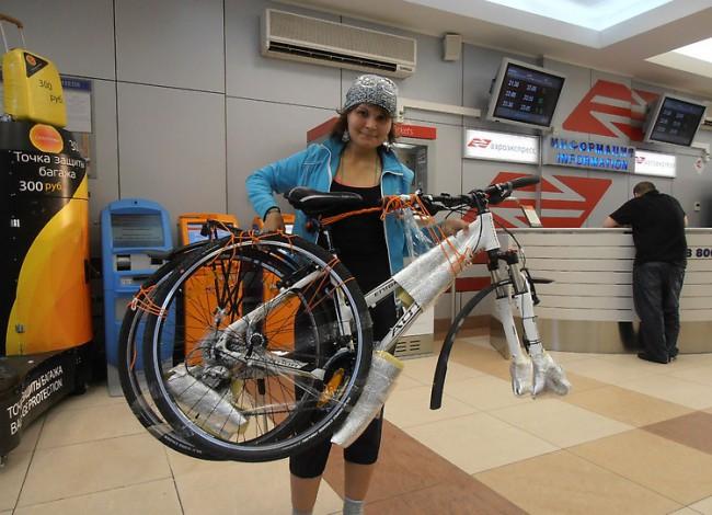 Транспортировка велосипеда в самолет